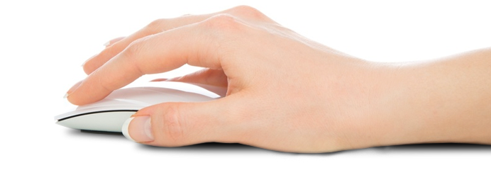 Main avec souris